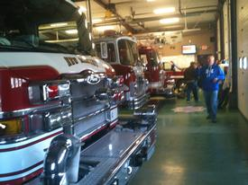 Apparatus staging at Station #2