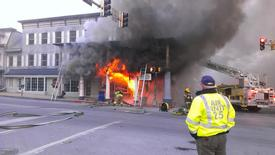 Photo from early on in the blaze