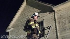 Sgt Chapman works on ground ladders