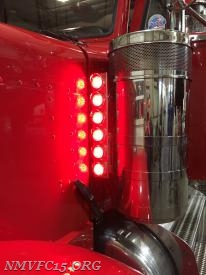 LED Marker lights installed on drivers side air cleaner