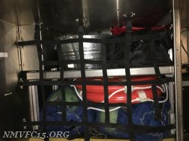 Walk in compartment with water rescue and salvage equipment