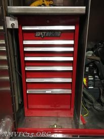 The toolbox is installed and all drawers finished