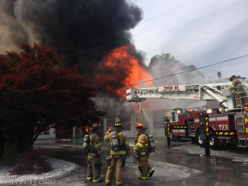 New Market Assists on Mount Airy Two Alarm Building Fire - New