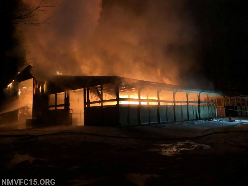 West Watersville Road Barn Fire